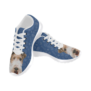 Wire Hair Fox Terrier Dog White Sneakers Size 13-15 for Men - TeeAmazing