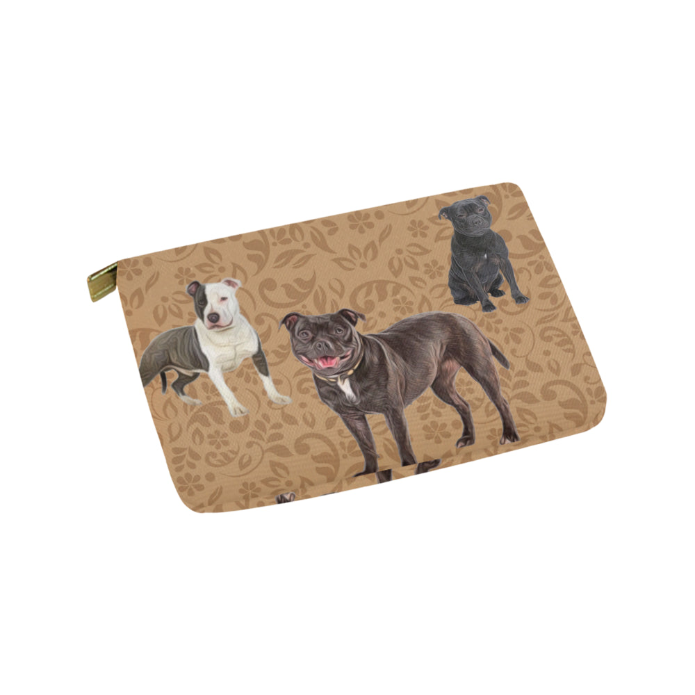 Staffordshire Bull Terrier Lover Carry-All Pouch 9.5x6 - TeeAmazing