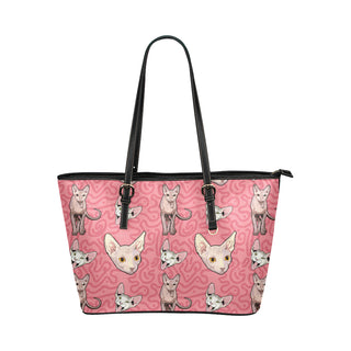 Sphynx Leather Tote Bag/Small - TeeAmazing