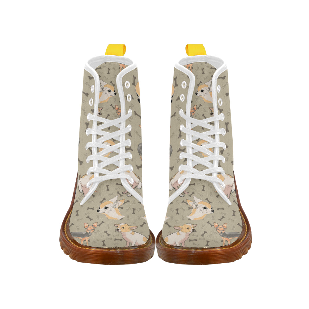 Chihuahua White Boots For Men - TeeAmazing