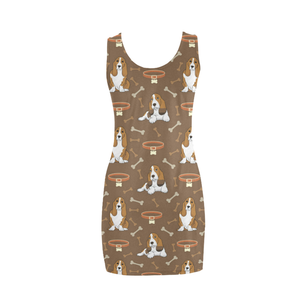 Basset Fauve Medea Vest Dress - TeeAmazing