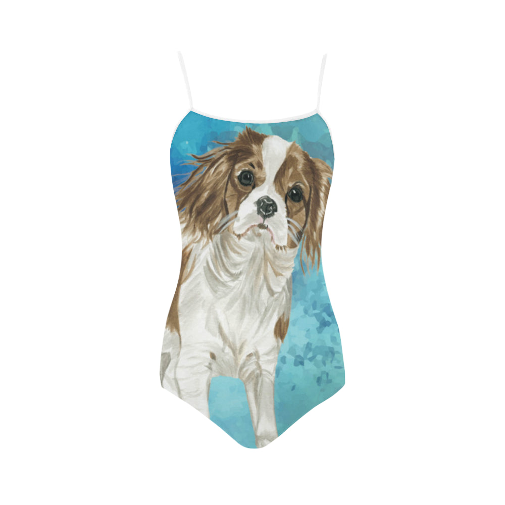 Cavalier King Charles Spaniel Water Colour No.1 Strap Swimsuit - TeeAmazing