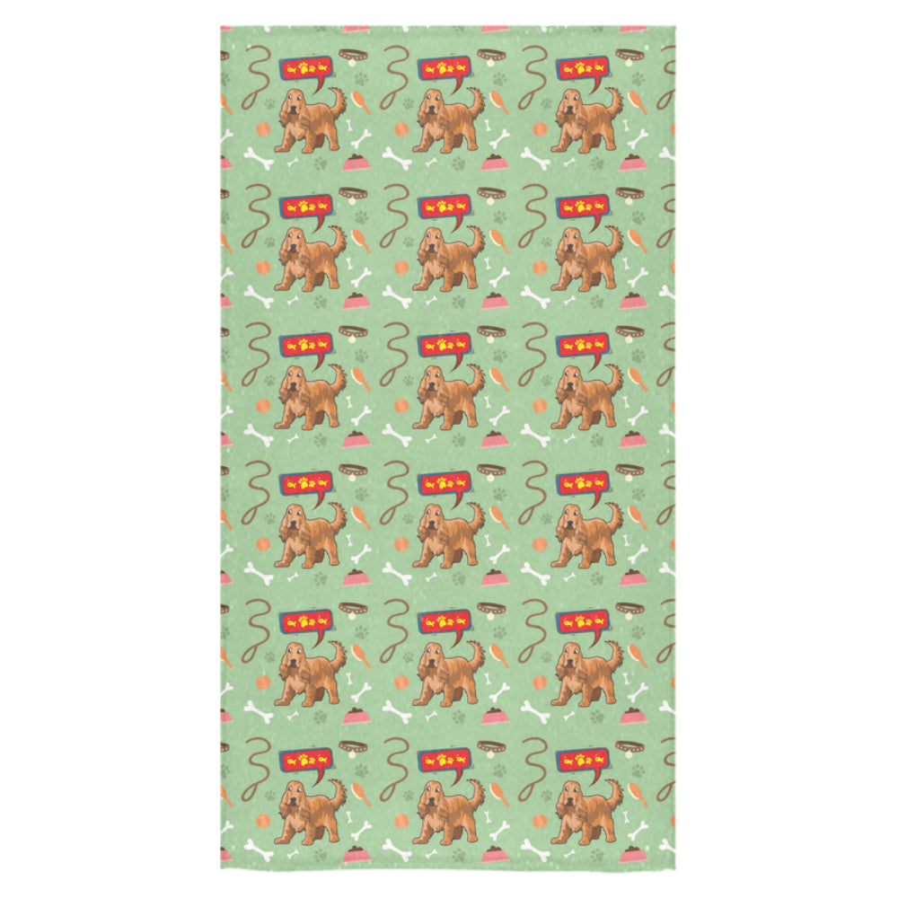 "American Cocker Spaniel Pattern Bath Towel 30""x56"" - TeeAmazing"
