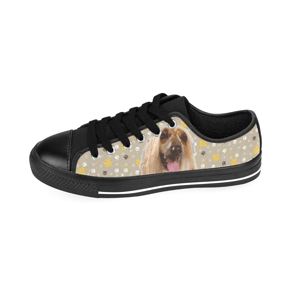 Afghan Hound Black Men's Classic Canvas Shoes/Large Size - TeeAmazing