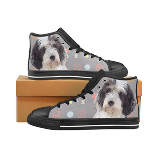 Petit Basset Griffon Vendéen Black Men's Classic High Top Canvas Shoes /Large Size - TeeAmazing