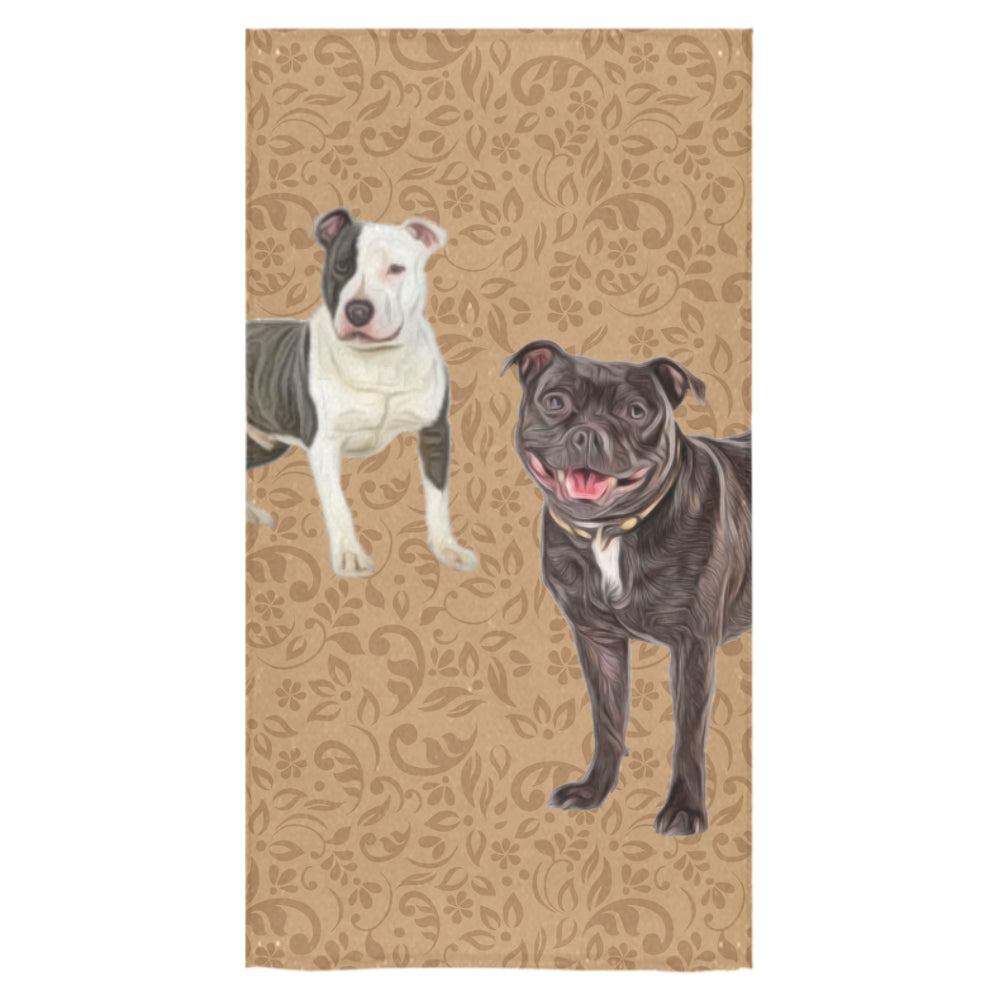 "Staffordshire Bull Terrier Lover Bath Towel 30""x56"" - TeeAmazing"
