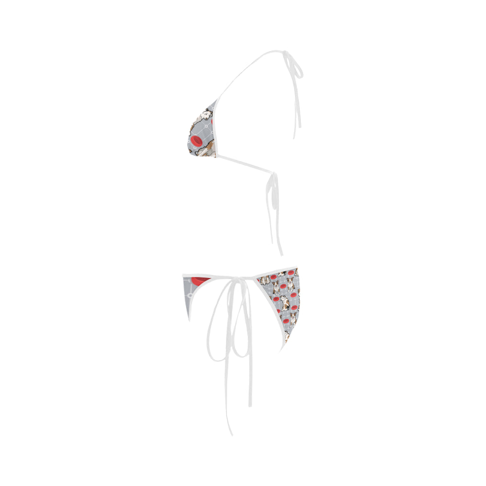 Australian shepherd Pattern Custom Bikini Swimsuit - TeeAmazing