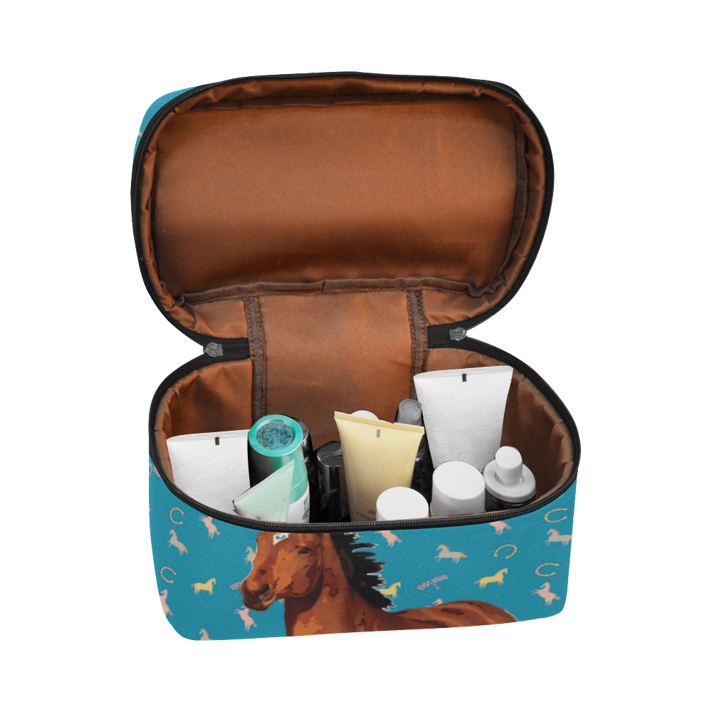 Horse Cosmetic Bag/Large - TeeAmazing