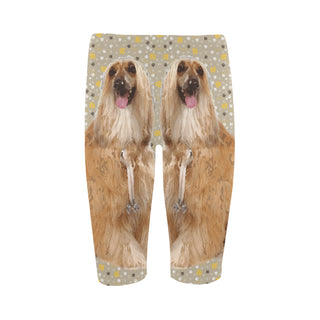 Afghan Hound Hestia Cropped Leggings (Model L03) - TeeAmazing