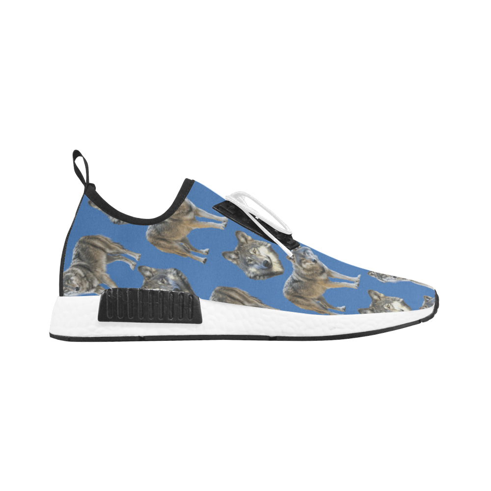 Wolf Pattern Women's Draco Running Shoes - TeeAmazing