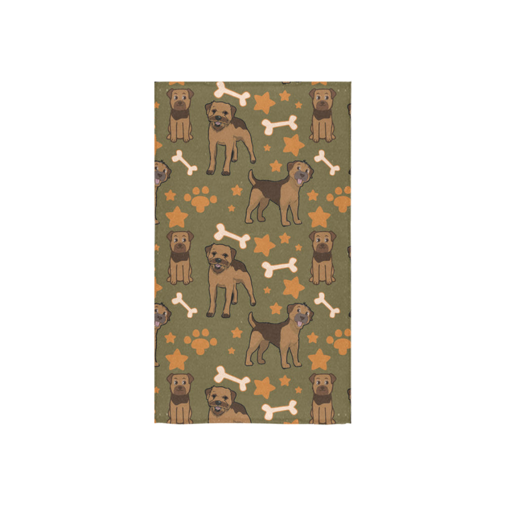 "Border Terrier Pattern Custom Towel 16""x28"" - TeeAmazing"