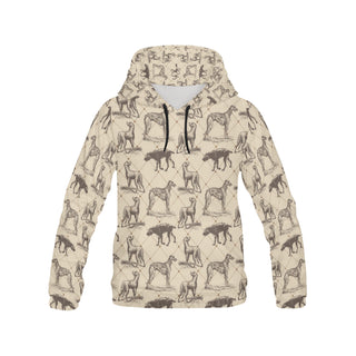 Scottish Deerhounds All Over Print Hoodie for Women (USA Size) (Model H13) - TeeAmazing