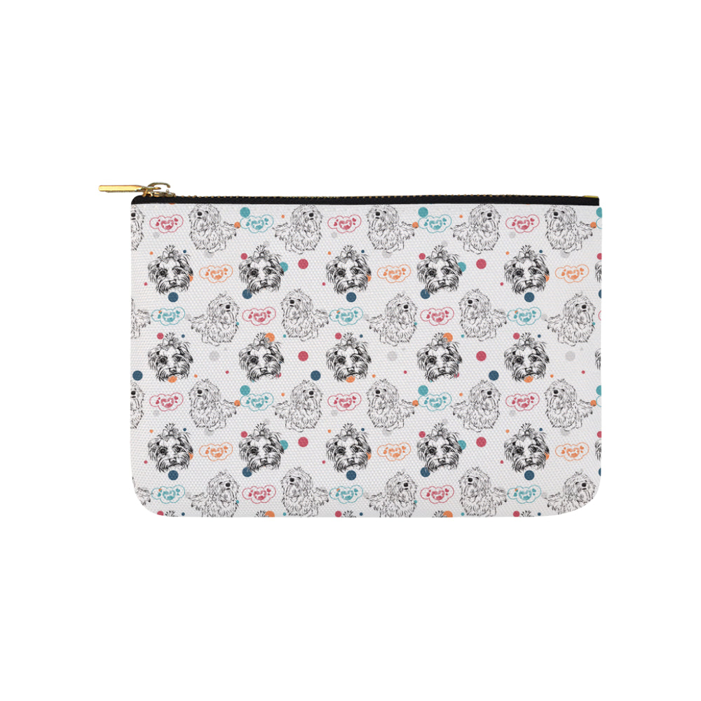 Maltese Pattern Carry-All Pouch 9.5x6 - TeeAmazing
