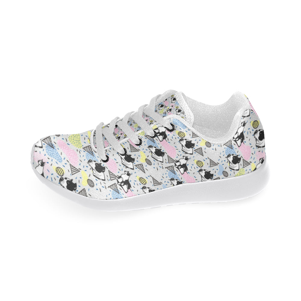 American Staffordshire Terrier Pattern White Sneakers Size 13-15 for Men - TeeAmazing