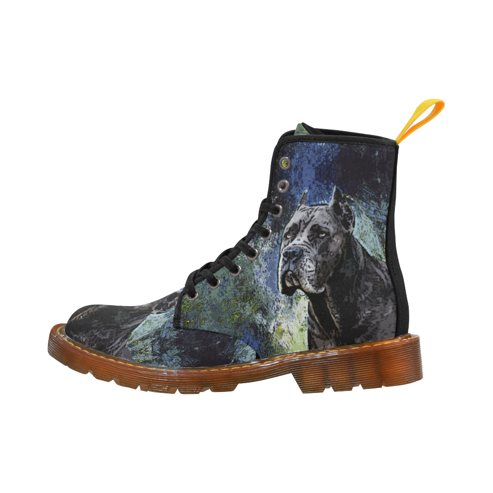 Cane Corso Black Boots For Women - TeeAmazing