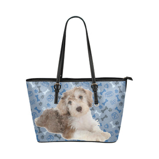 Schnoodle Dog Leather Tote Bag/Small - TeeAmazing