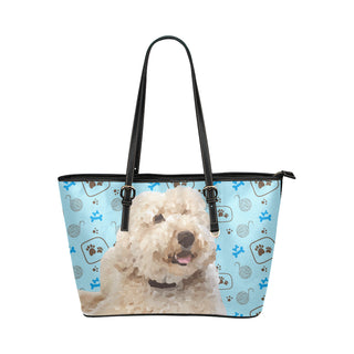 labradoodle Leather Tote Bag/Small - TeeAmazing
