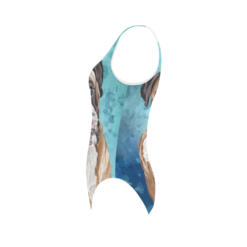 Boxer Water Colour Vest One Piece Swimsuit - TeeAmazing