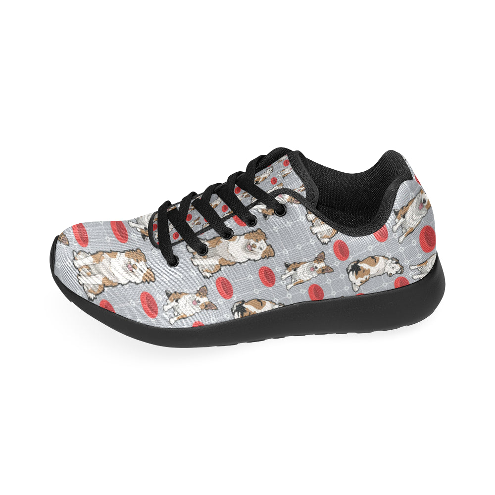 Australian shepherd Pattern Black Sneakers for Women - TeeAmazing