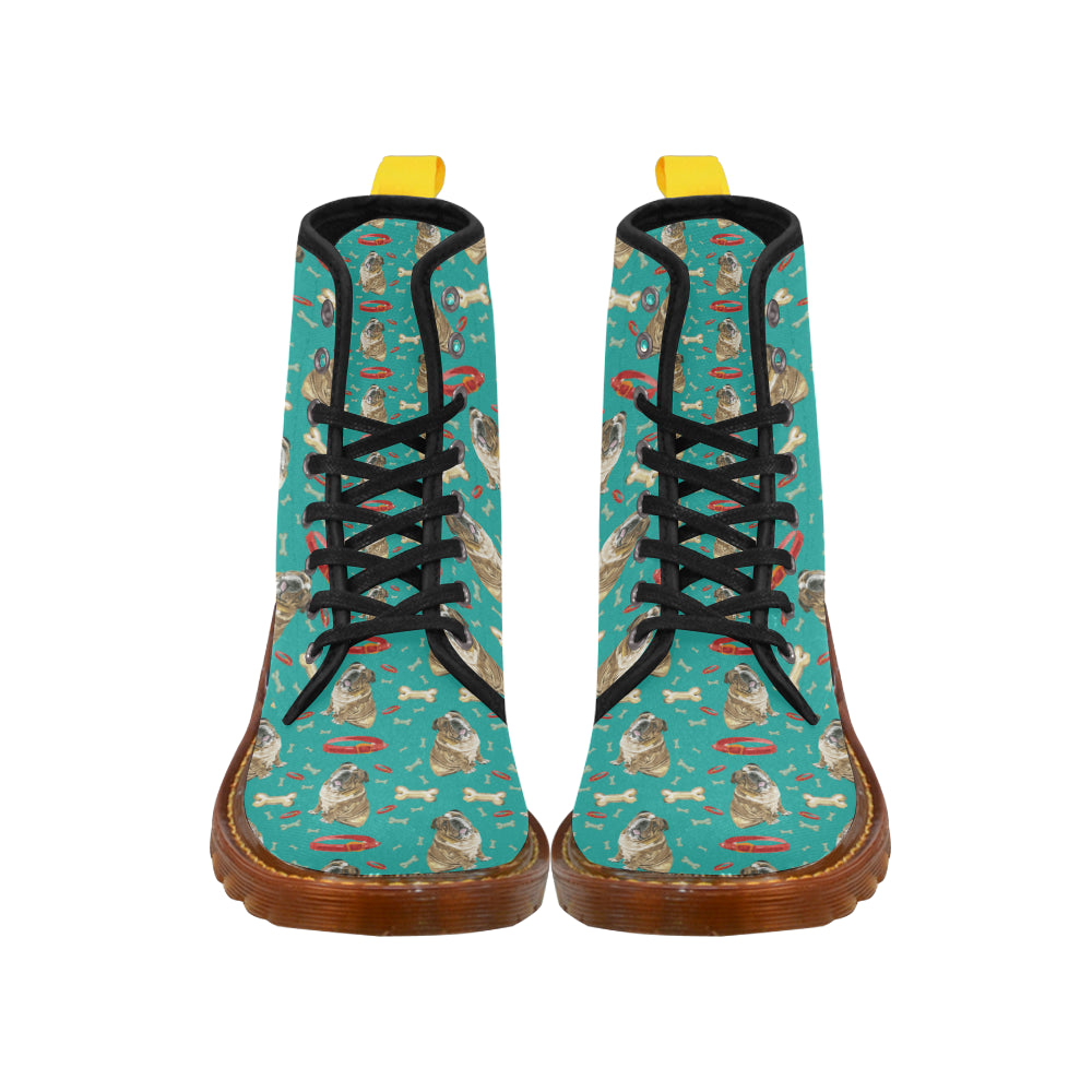 English Bulldog Water Colour Pattern No.1 Boots For Men - TeeAmazing