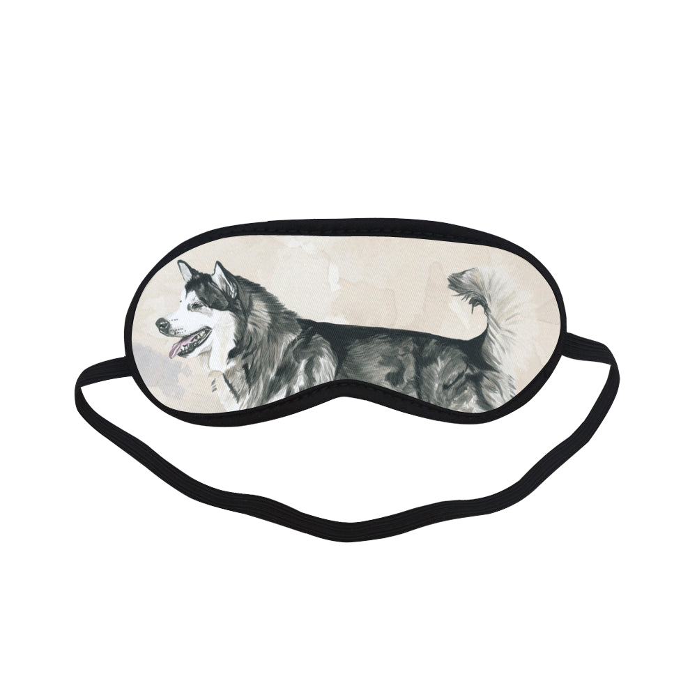 Free Alaskan Malamute Water Colour Sleeping Mask - TeeAmazing