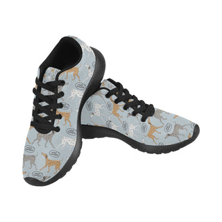 Italian Greyhound Pattern Black Sneakers for Women - TeeAmazing