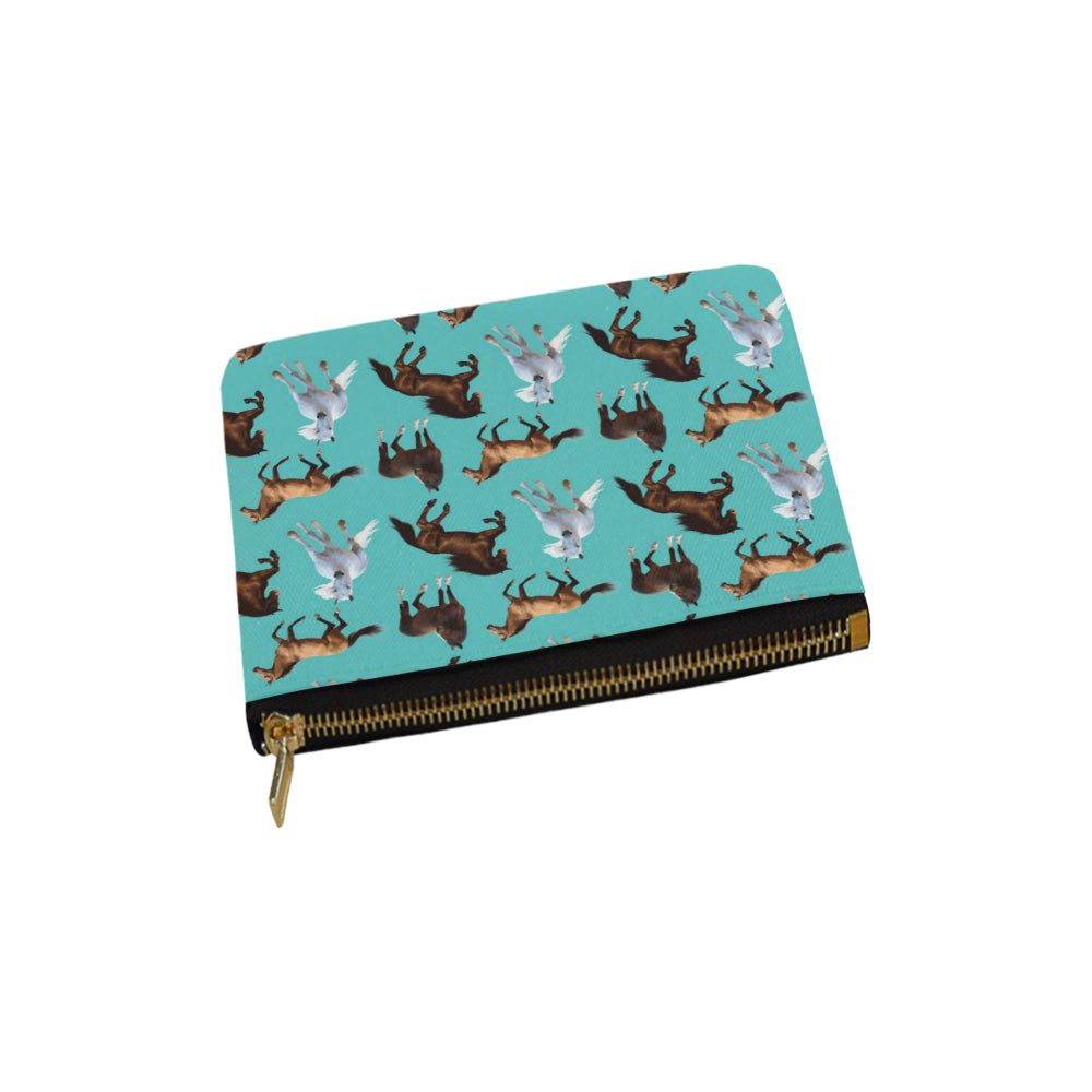 Horse Pattern Carry-All Pouch 6x5 - TeeAmazing