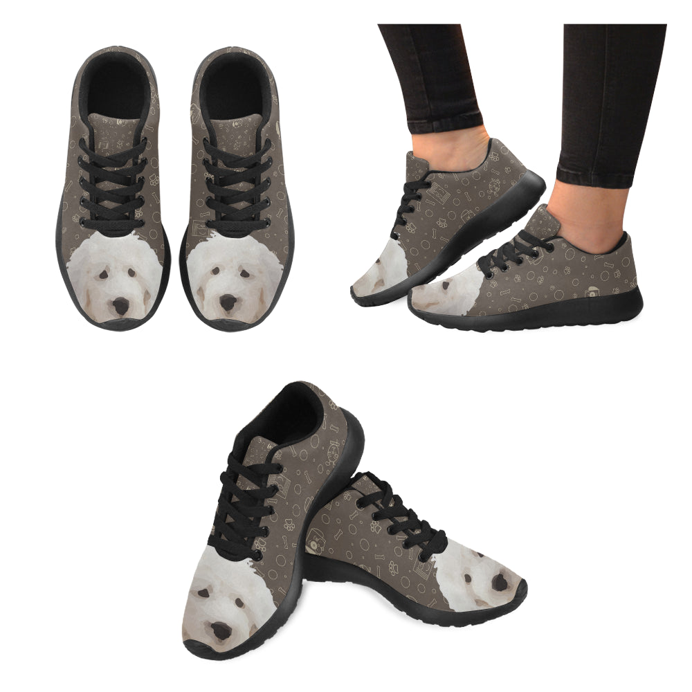 Old English Sheepdog Dog Black Sneakers Size 13-15 for Men - TeeAmazing