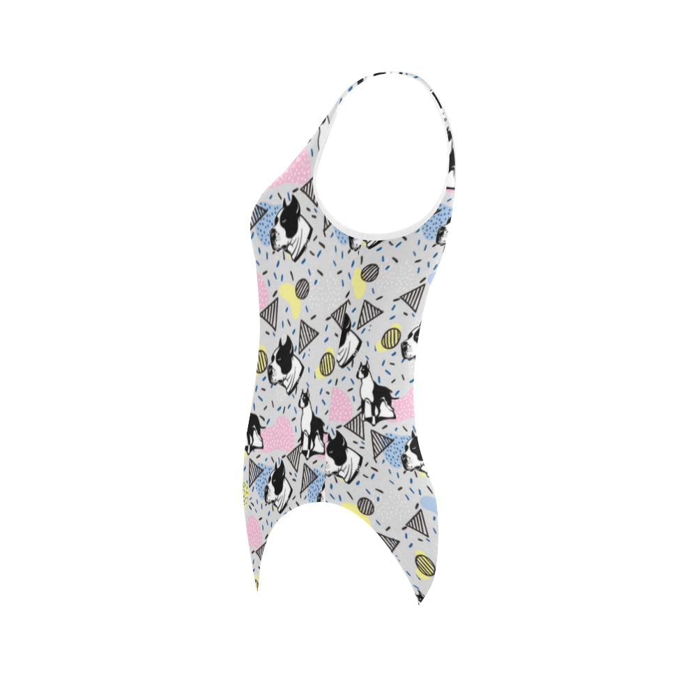 American Staffordshire Terrier Pattern Vest One Piece Swimsuit - TeeAmazing