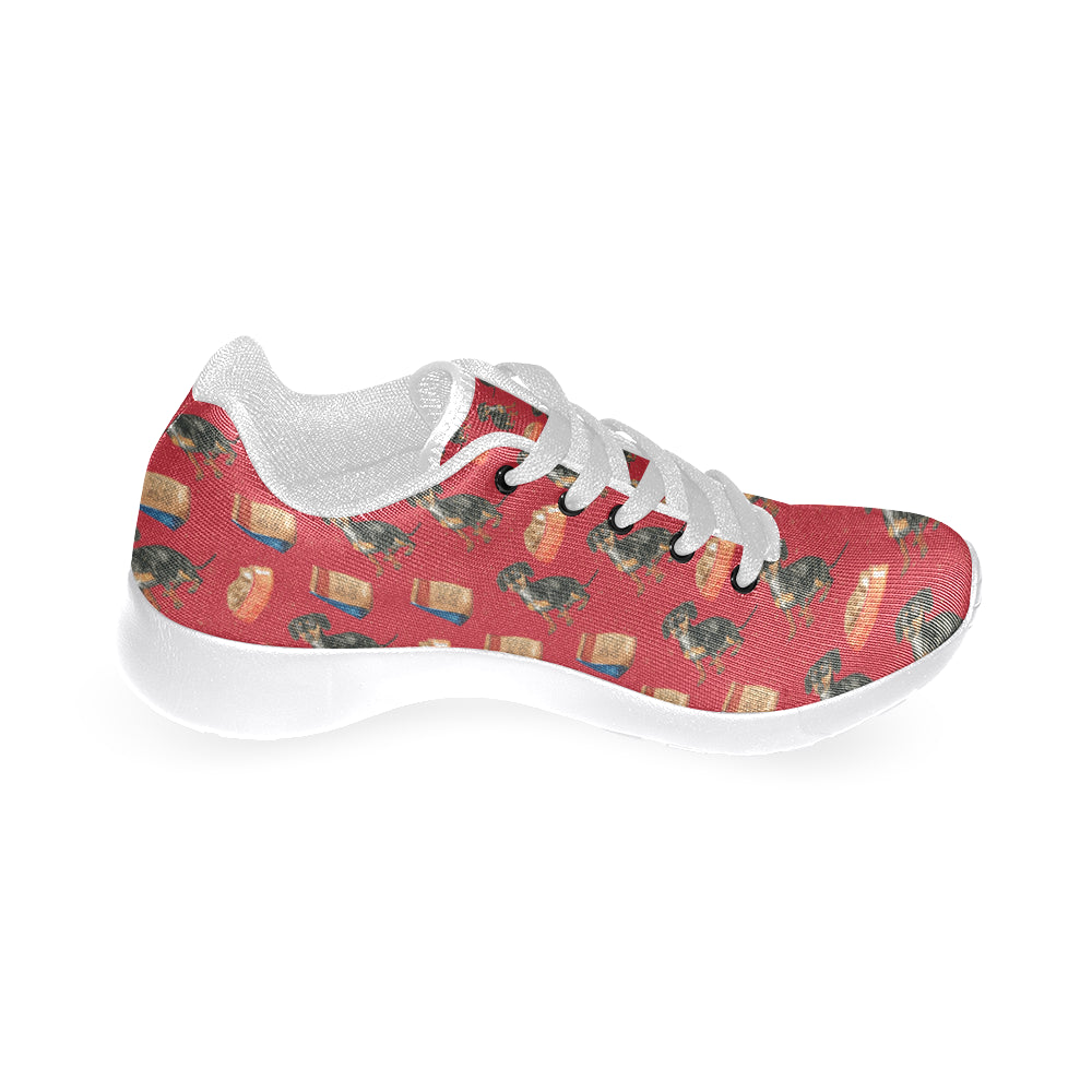 Dachshund Water Colour Pattern No.2 White Sneakers Size 13-15 for Men - TeeAmazing