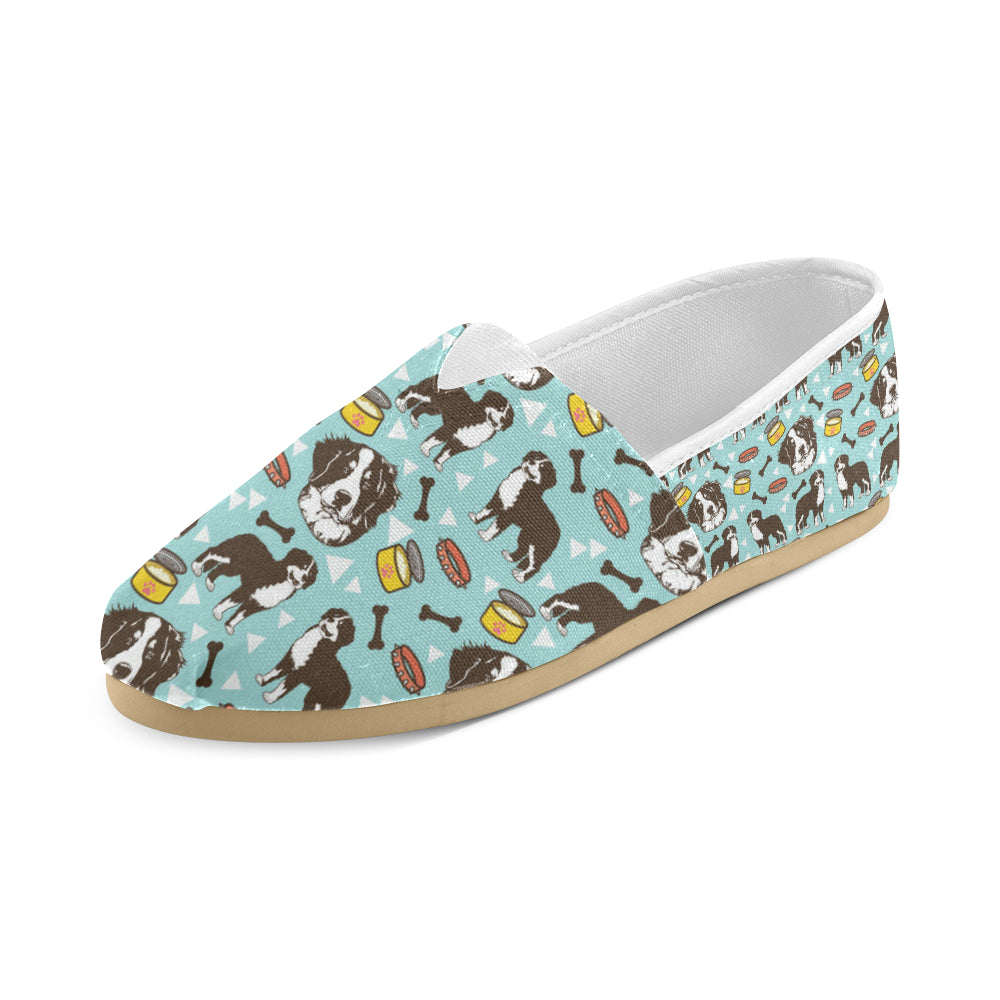 Bernese Mountain Pattern Women's Casual Shoes - TeeAmazing