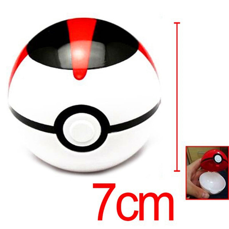 1Pcs 7cm Pokemon Ball Figures ABS Anime Action Figures Pokemon PokeBall Toys Super Master Pokemon Ball Toys Pokeball Juguetes 55320-white