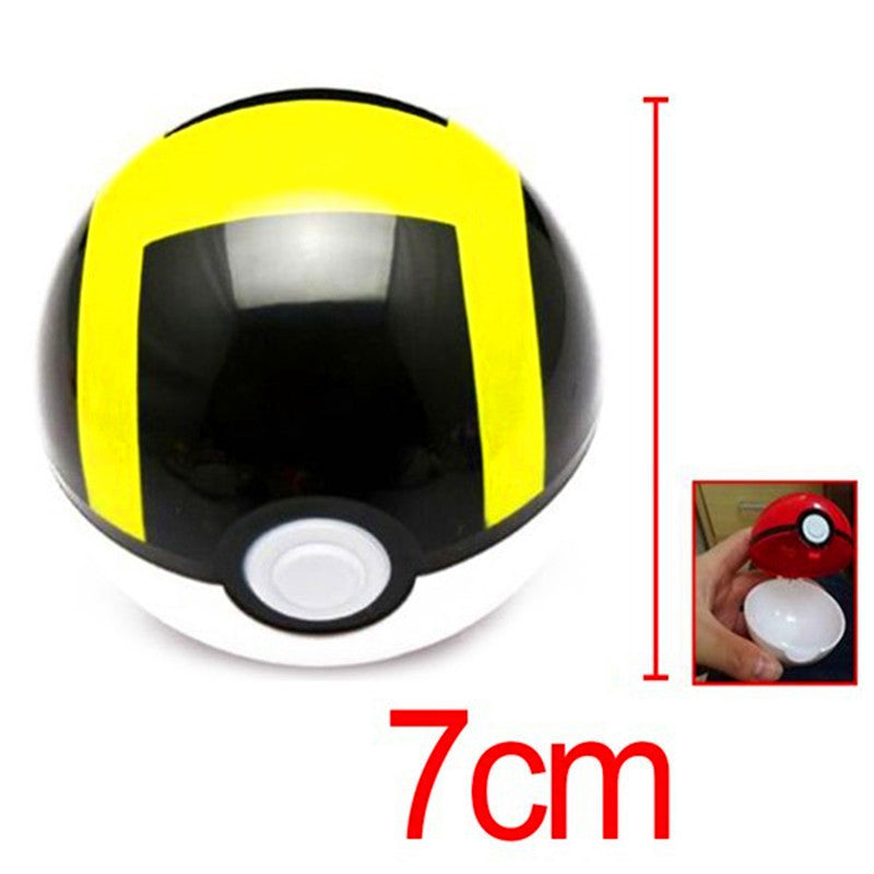 1Pcs 7cm Pokemon Ball Figures ABS Anime Action Figures Pokemon PokeBall Toys Super Master Pokemon Ball Toys Pokeball Juguetes 55320-black