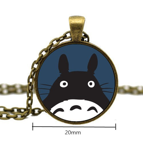 My Neighbor Anime Totoro Glass Necklace Pendant For Women Girl Animal Jewelry - TeeAmazing