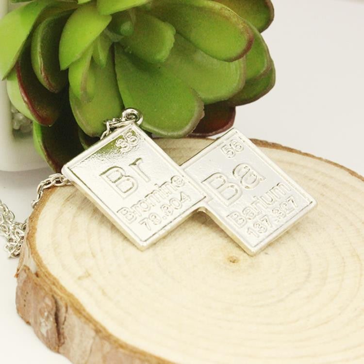 Breaking Bad Chemical Symbol Pendant Necklace TV Series Jewelry Men And Women Link Chain Necklace - TeeAmazing