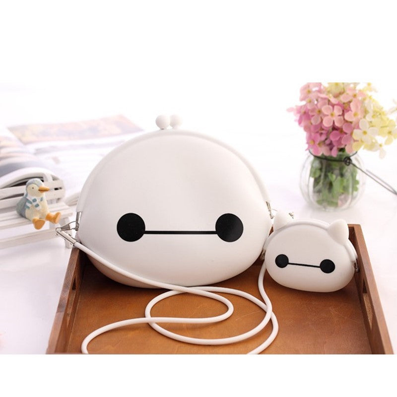 Silicon gel Cartoon Big Hero 6 Baymax Women Mini Shoulder Crossbody Bag + Ladies Coin Purses Key Bag - TeeAmazing