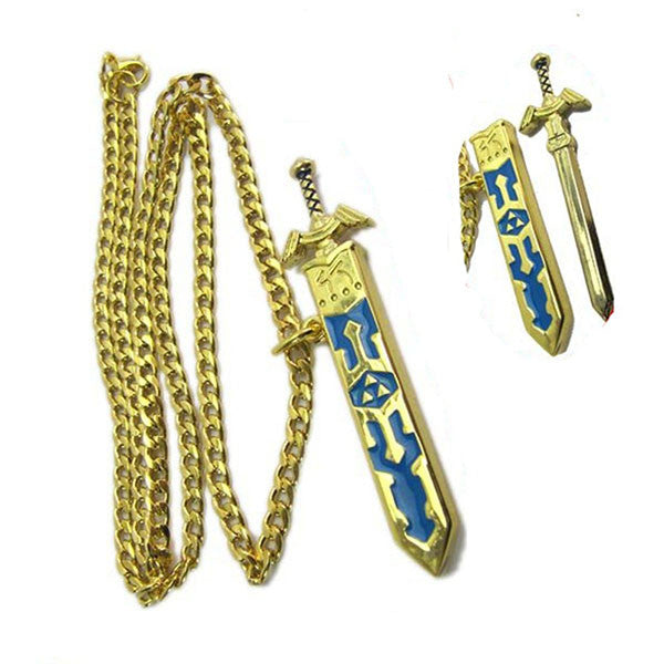 High Quality Legend of Zelda Removable Master Sword Long Chain Pendant Necklace - TeeAmazing - 3