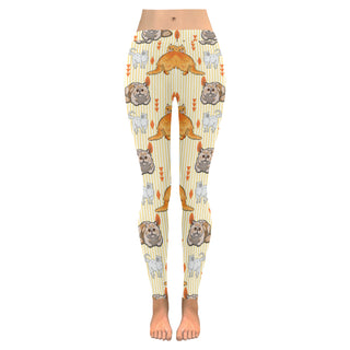 Exotic Longhair Low Rise Leggings (Model L05) - TeeAmazing