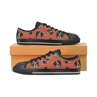 Bouviers Black Women's Classic Canvas Shoes (Model 018) - TeeAmazing