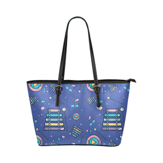 Marimba Pattern Leather Tote Bag/Small - TeeAmazing