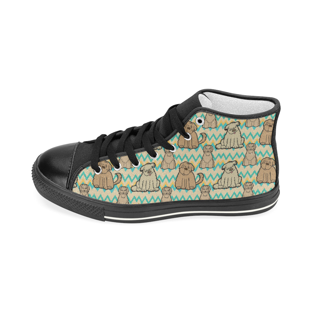 Briard Black Women's Classic High Top Canvas Shoes - TeeAmazing