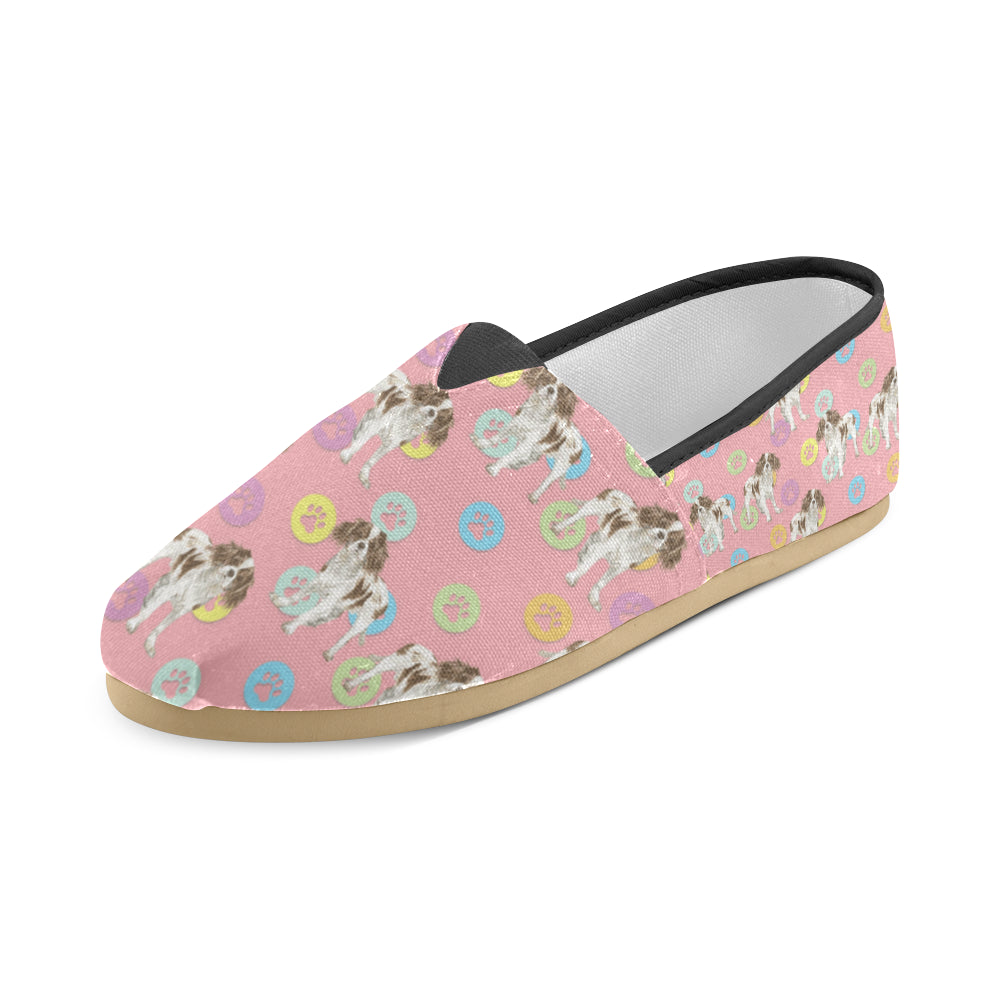 Cavalier King Charles Spaniel Water Colour Pattern No.1 Women's Casual Shoes - TeeAmazing