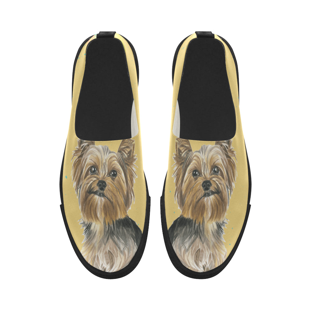Yorkshire Terrier Water Colour No.1 Apus Slip-on Microfiber Women's Shoes - TeeAmazing