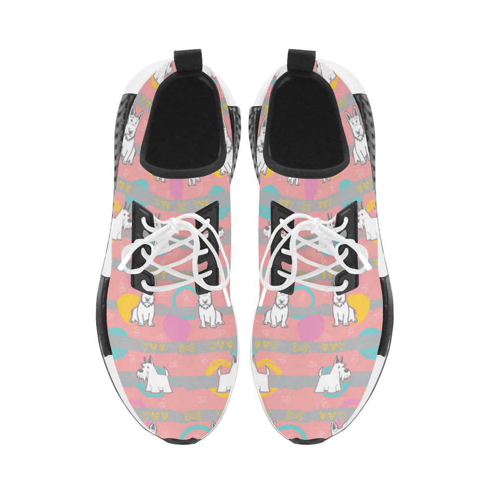 Scottish Terrier Pattern Men's Draco Running Shoes (Model 025) - TeeAmazing