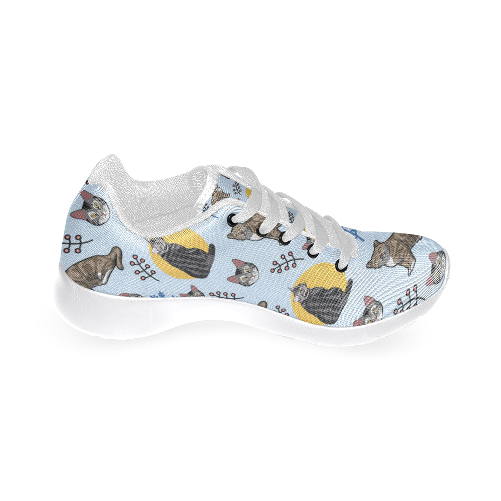 American Shorthair White Sneakers for Women - TeeAmazing