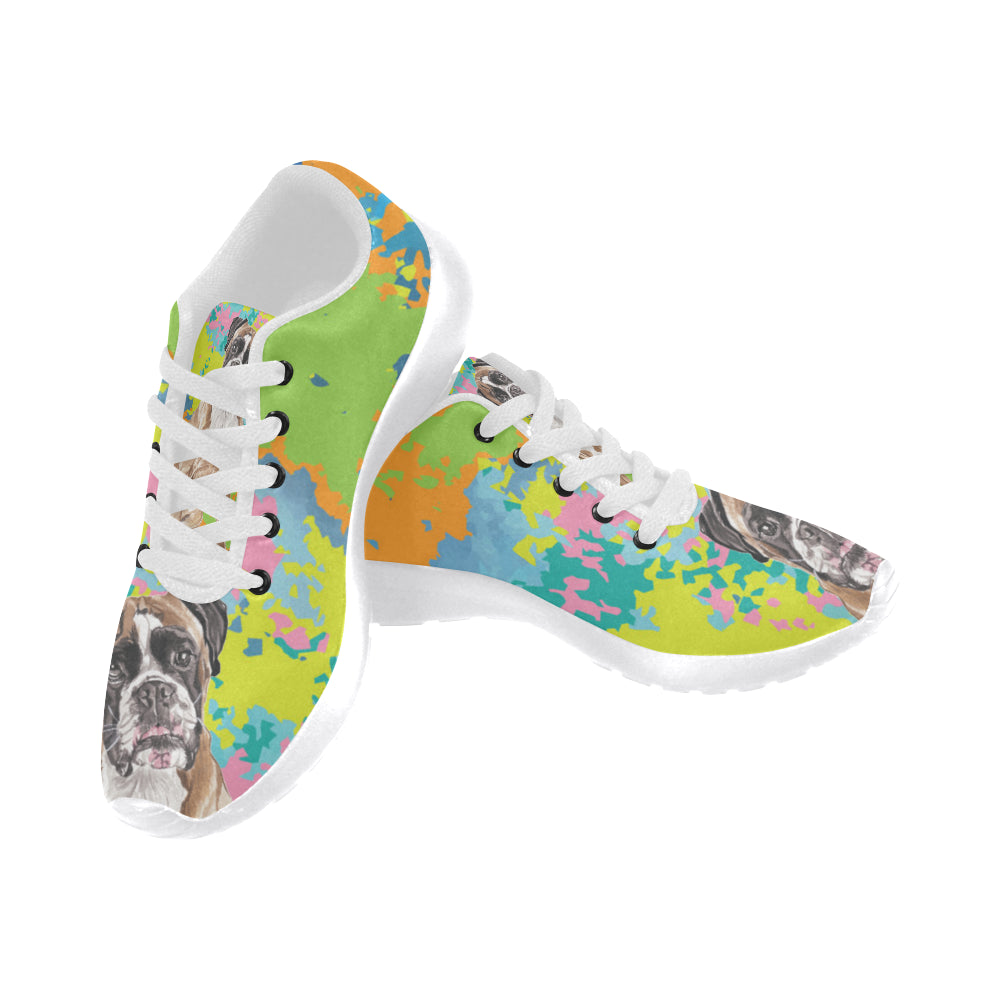 Boxer Water Colour No.2 White Sneakers for Men - TeeAmazing