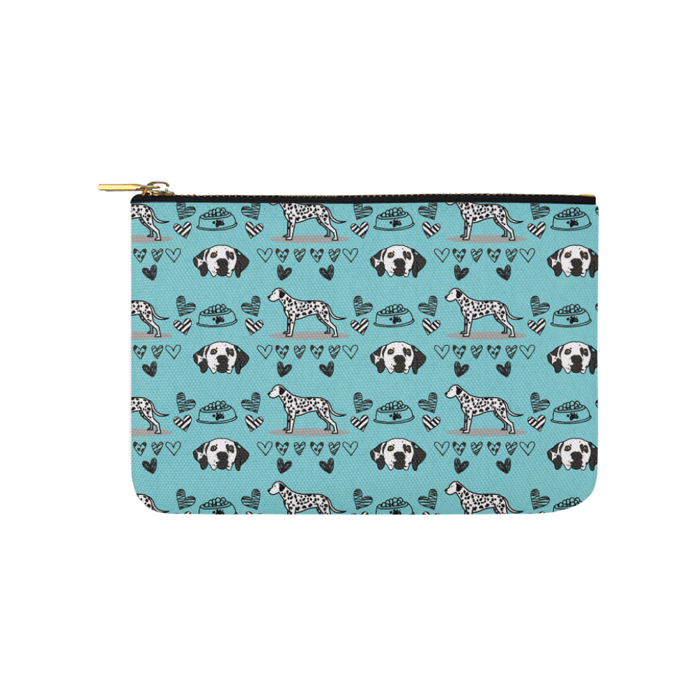 Dalmatian Pattern Carry-All Pouch 9.5x6 - TeeAmazing
