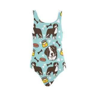 Bernese Mountain Pattern Vest One Piece Swimsuit - TeeAmazing