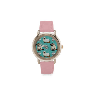 Himalayan Cat Women's Rose Gold Leather Strap Watch(Model 201) - TeeAmazing