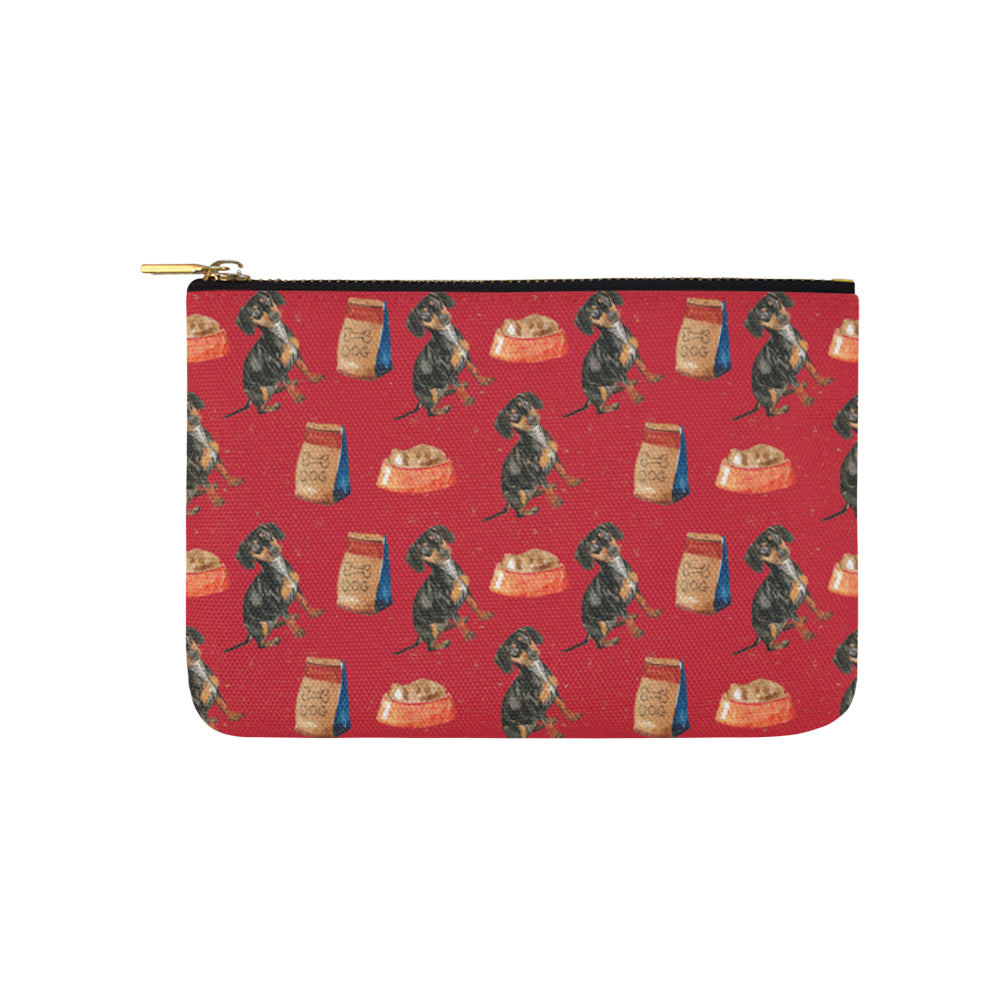 Dachshund Water Colour Pattern No.2 Carry-All Pouch 9.5x6 - TeeAmazing